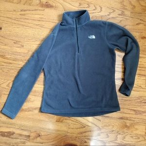The North Face Grey Fleece ZIP Pullover Size L